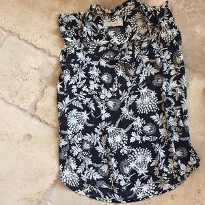 Loft Blouse Black and White